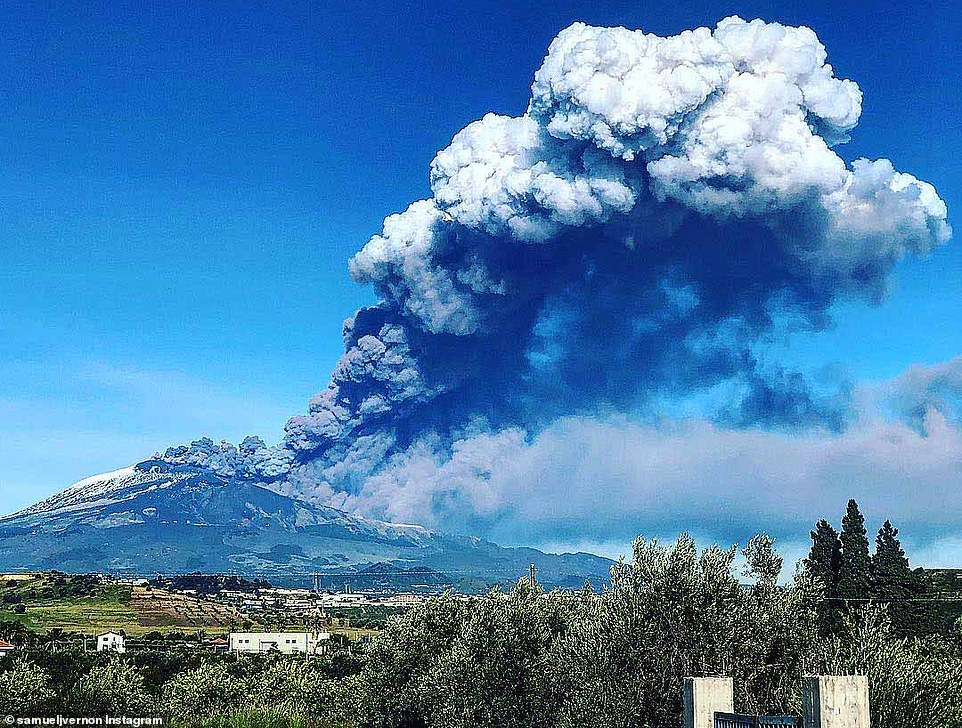 Mount Etna or Mongibello has over the last few weeks been shooting clouds of ash and column into the air during on of its frequent eruptions
