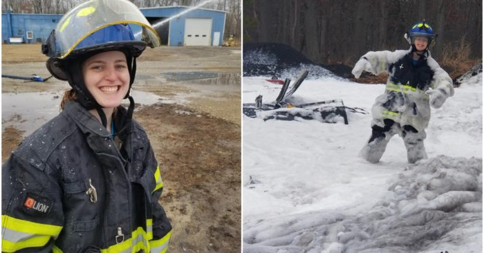Firefighter Natalie N. Dempsey, 21, was killed in a crash while responding to a fire call on Christmas Day, officials said. (Mizpah Volunteer Fire Company)