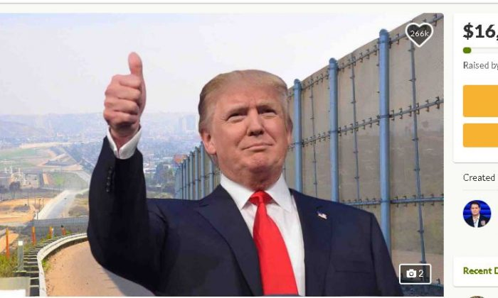 """A GoFundMe page titled, """"We The People Will Fund The Wall,"""" has raised $16 million out of the $1 billion required for construction as of Dec. 20, 2018 (GoFundMe)"""