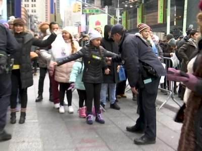 Spectators packed into Times Square in New York on Monday to welcome in 2019 with the traditional crystal ball drop, fireworks and a blizzard of confetti. (Dec. 31)