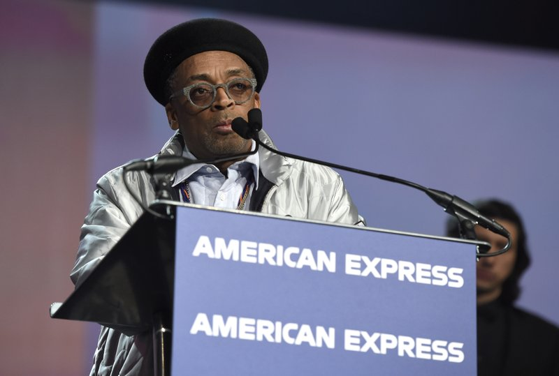 Spike Lee accepts the career achievement award for