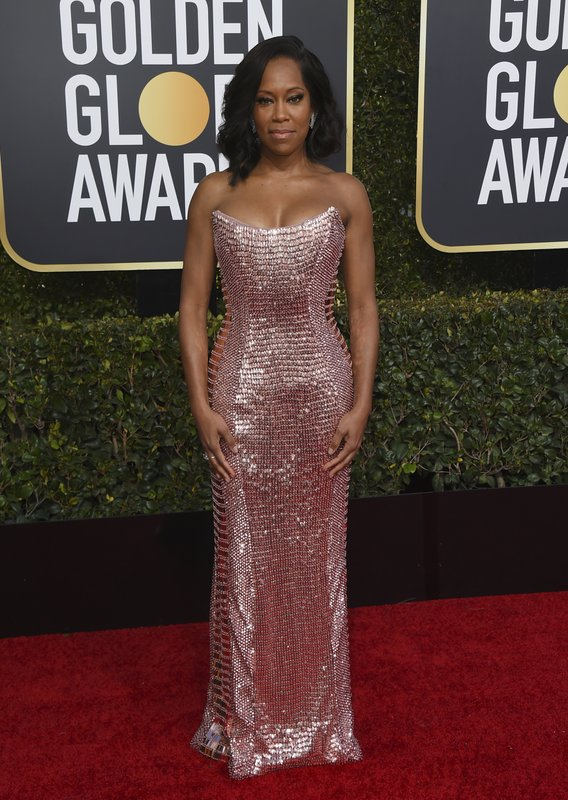 Regina King arrives at the 76th annual Golden Globe Awards at the Beverly Hilton Hotel on Sunday, Jan. (Photo by Jordan Strauss/Invision/AP)