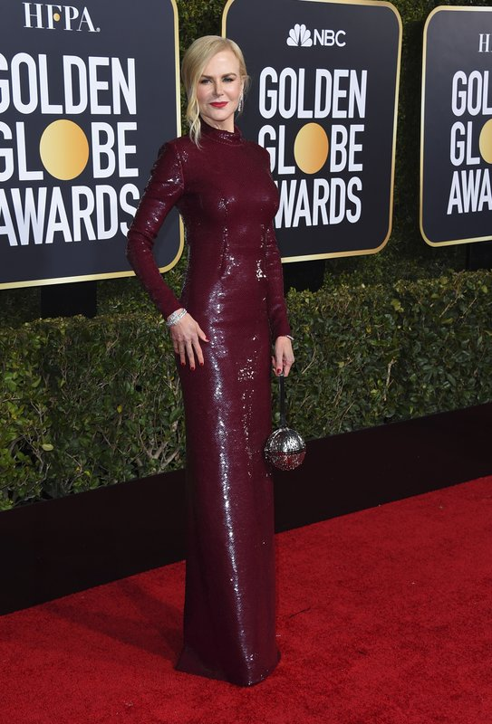 Nicole Kidman arrives at the 76th annual Golden Globe Awards at the Beverly Hilton Hotel on Sunday, Jan. (Photo by Jordan Strauss/Invision/AP)