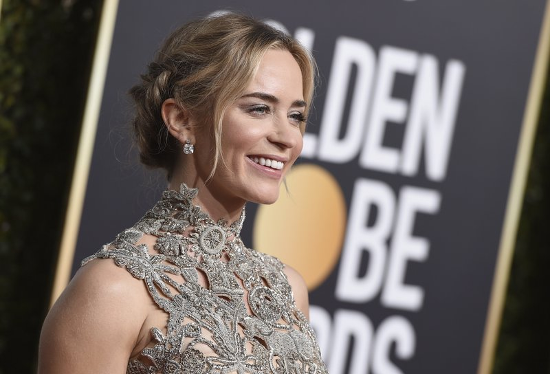Emily Blunt arrives at the 76th annual Golden Globe Awards at the Beverly Hilton Hotel on Sunday, Jan. (Photo by Jordan Strauss/Invision/AP)