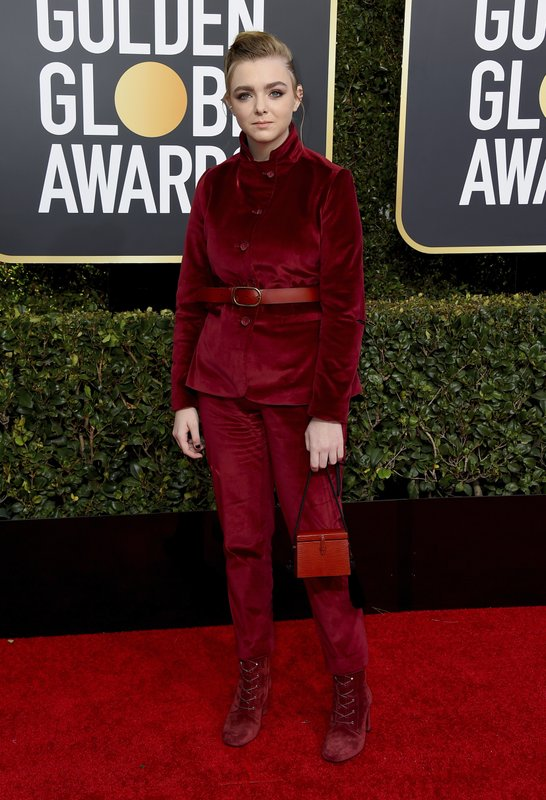 Elsie Fisher arrives at the 76th annual Golden Globe Awards at the Beverly Hilton Hotel on Sunday, Jan. (Photo by Jordan Strauss/Invision/AP)