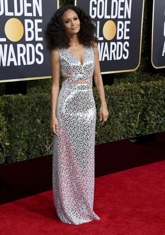 Thandie Newton arrives at the 76th annual Golden Globe Awards at the Beverly Hilton Hotel on Sunday, Jan. (Photo by Jordan Strauss/Invision/AP)