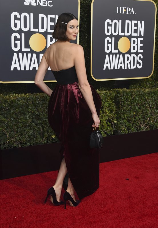 Caitriona Balfe arrives at the 76th annual Golden Globe Awards at the Beverly Hilton Hotel on Sunday, Jan. (Photo by Jordan Strauss/Invision/AP)