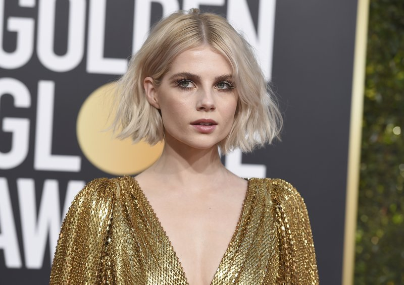 Lucy Boynton arrives at the 76th annual Golden Globe Awards at the Beverly Hilton Hotel on Sunday, Jan. (Photo by Jordan Strauss/Invision/AP)