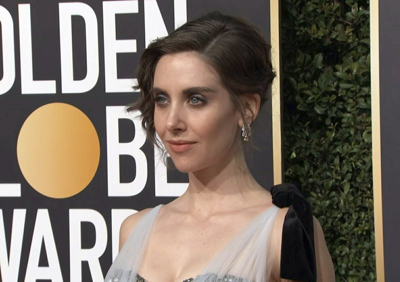 This image taken from video shows actress Alison Brie arriving at the 76th annual Golden Globe Awards at the Beverly Hilton Hotel on Sunday, Jan. (AP Photo/Jeff Turner)