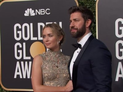 Celebrity couples including Bradley Cooper and Irina Shayk, John Krasinski and Emily Blunt and Dax Shepard and Kristen Bell set a date for this year's Golden Globes. (Jan. 7)