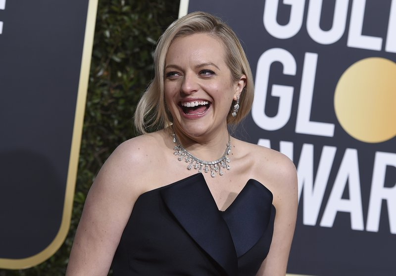 Elisabeth Moss arrives at the 76th annual Golden Globe Awards at the Beverly Hilton Hotel on Sunday, Jan. (Photo by Jordan Strauss/Invision/AP)