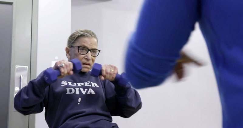 This image released by Magnolia Pictures shows U.S. Supreme Court justice Ruth Bader Ginsberg in a scene from