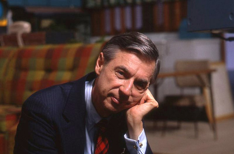 This image released by Focus Features shows Fred Rogers on the set of his show