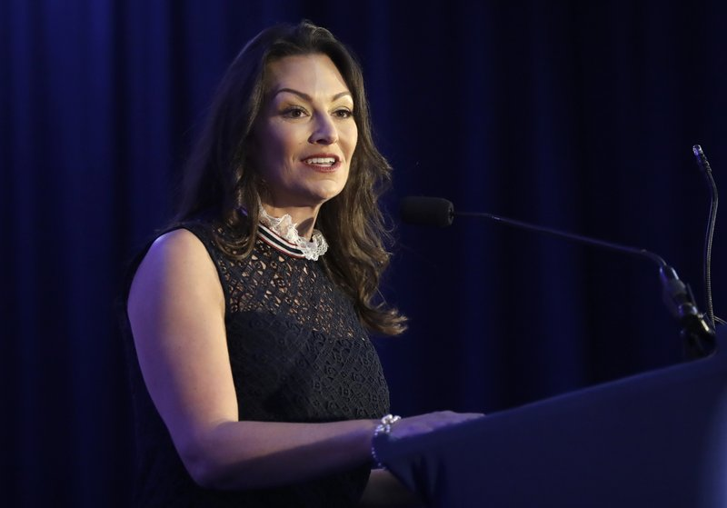 Florida Commissioner of Agriculture-elect Nikki Fried speaks during a military and law enforcement appreciation event, Monday, Jan. (AP Photo/Lynne Sladky)