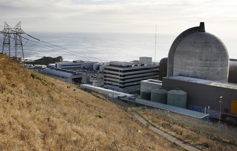 FILE - This Nov. 3, 2008 file photo shows one of Pacific Gas and Electric's Diablo Canyon Power Plant's nuclear reactors in Avila Beach, Calif. (AP Photo/Michael A. Mariant, File)