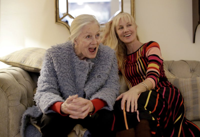 British actresses Vanessa Redgrave and her daughter Joely Richardson pose for portrait photographs before an interview with The Associated Press in London, Tuesday, Jan. (AP Photo/Matt Dunham)