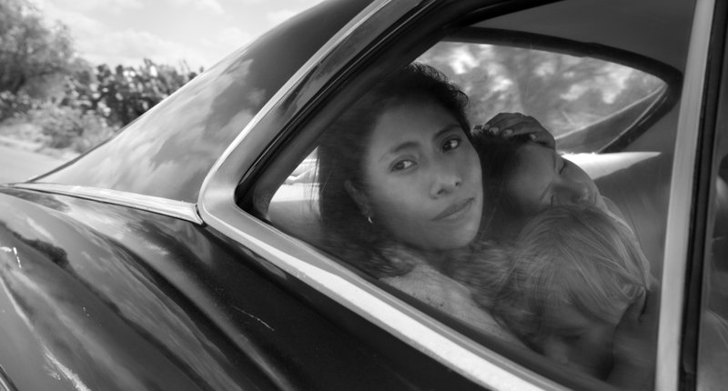 This image released by Netflix shows Yalitza Aparicio in a scene from the film