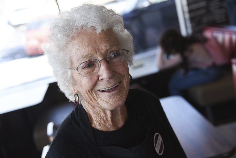 After 25 years at Arby's in Millcreek, Utah, 94-year-old Dorothy Bale has no plans to retire from the job she started when she was 69. (Francisco Kjolseth/The Salt Lake Tribune via AP)