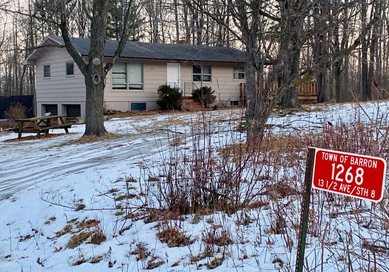 The home where teenager Jayme Closs lived with her parents is seen Friday, Jan. 11, 2019, in Barron, Wis. (AP Photo/Jeff Baenen)