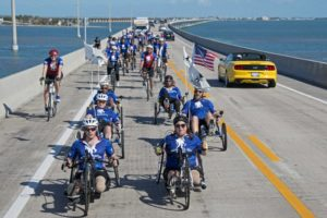 Wounded military personnel bike through Florida Keys