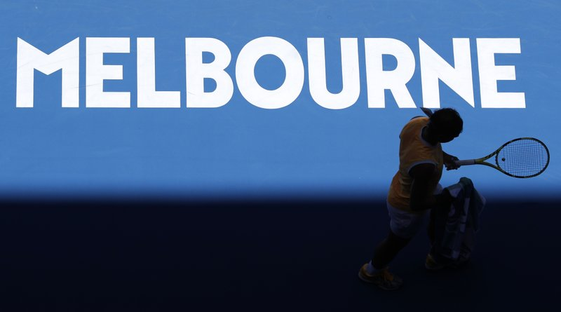 Spain's Rafael Nadal walks during their his first round match against Australia's James Duckworth at the Australian Open tennis championships in Melbourne, Australia, Monday, Jan. (AP Photo/Aaron Favila)