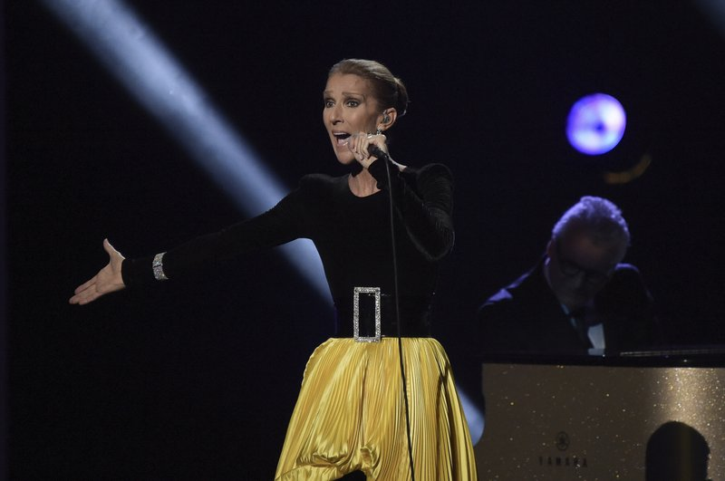 Celine Dion performs at the