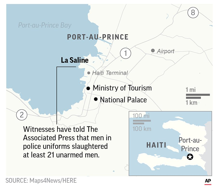The killings in La Saline reveal a startling erosion of security in Haiti since U.N. peacekeepers ended their 13-year mandate in October 2017 because conditions on the island had supposedly improved.