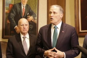 Gov. Inslee to talk climate with former California governor