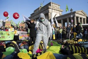 German farmers protest agro-industry, back healthy foods