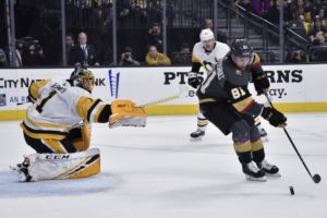 Marchessault's hat trick helps Vegas beat Penguins 7-3
