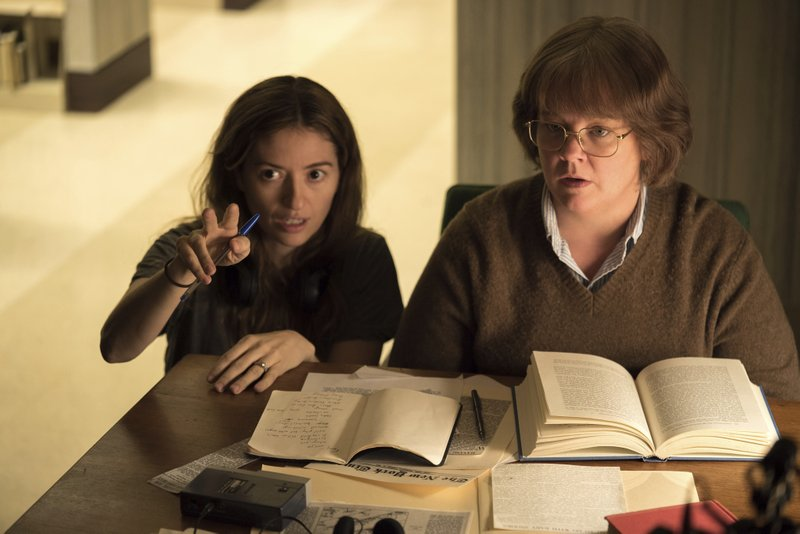 This image released by Fox Searchlight Pictures shows director Marielle Heller, left, and Melissa McCarthy in a scene from