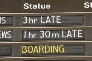 Last stop for train station's flipping departures board