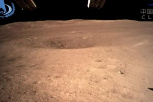 Chinese rover making tracks on dark side of the moon