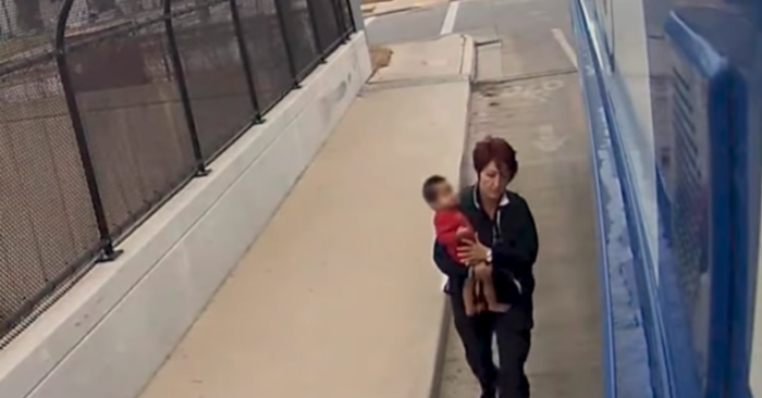 The Milwaukee County Transit System says an alert bus driver rescued a young child found wandering barefoot on a freeway overpass in frigid temperatures. The incident was captured on video. (Jan. 10)