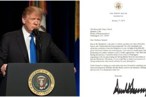 President Trump's full letter to Speaker of the House Nancy Pelosi