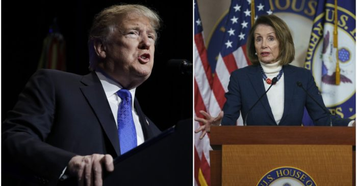 President Donald Trump and House Speaker Nancy Pelosi. (Photos: AP)