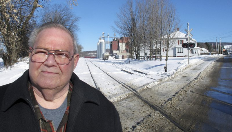 In this Jan. 17, 2019 photo, former town police chief Richard Jewett talks about the night in 1987 when he apprehended a man who carried a bomb across the border from Canada into the United States in Richford, Vt. (AP Photo/Wilson Ring)