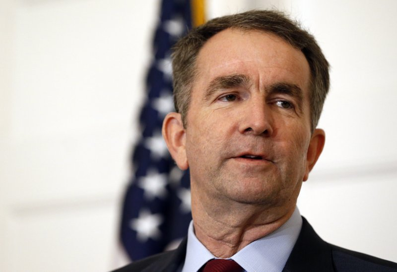FILE - In this Feb. 2, 2019 file photo, Virginia Gov. Ralph Northam speaks during a news conference in the Governor's Mansion in Richmond, Va. (AP Photo/Steve Helber, File)