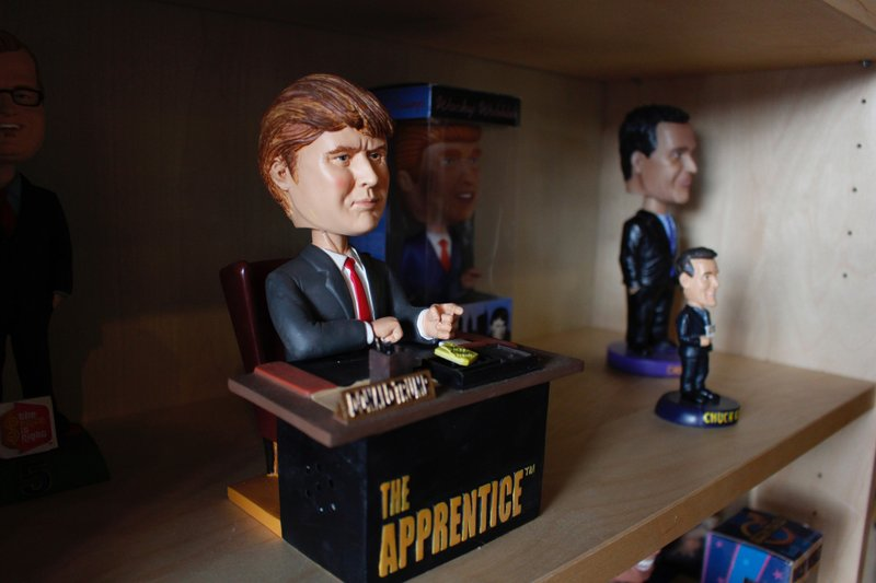 In this Jan. 8, 2019 photo, a bobblehead depicting Donald Trump from the TV show