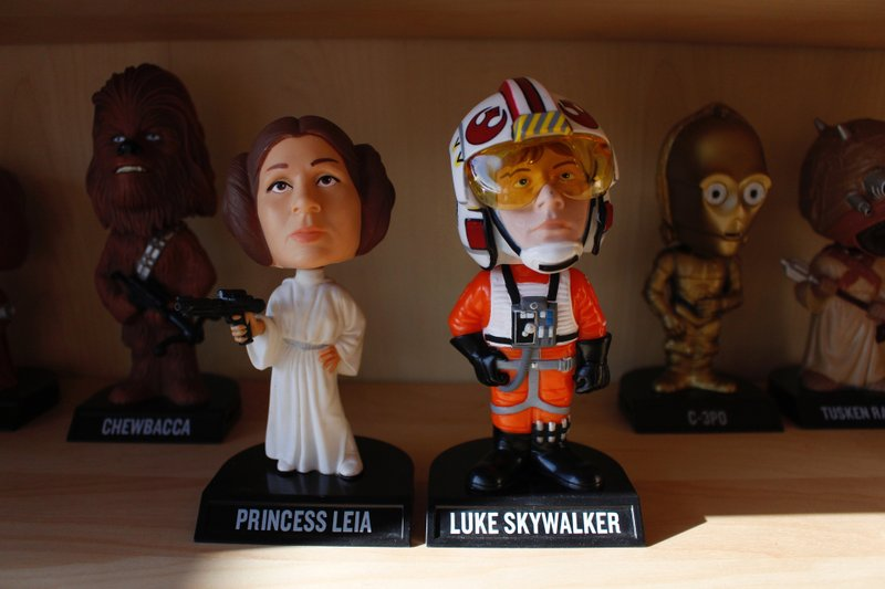 In this Jan. 8, 2019 photo, bobbleheads from the
