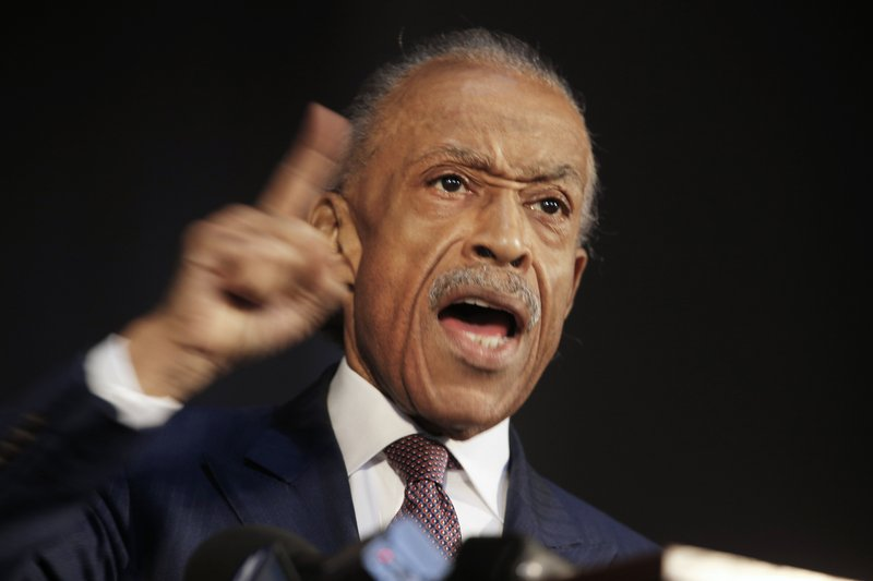 Rev. Al Sharpton delivers the keynote speech at the Reflections on Faith, Community and Racial Reconciliation in the Commonwealth ceremony hosted by Virginia Union University at the Allix B. (James H. Wallace/Richmond Times-Dispatch via AP)