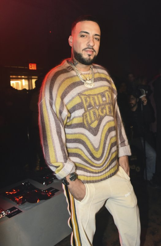 Rapper French Montana attends the Palm Angels show during New York Fashion Week, Friday Feb. 8, 2019. (AP Photo/Diane Bondareff)