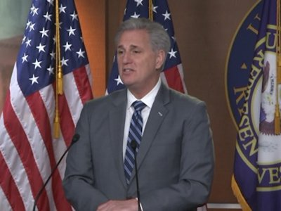 House Minority Leader Kevin McCarthy expressed optimism on border security funding, telling reporters,