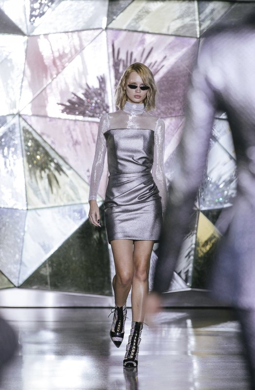 Christian Siriano Fall/Winter 2019 fashion collection is modeled during New York Fashion Week, Saturday, Feb. (AP Photo/Kevin Hagen)