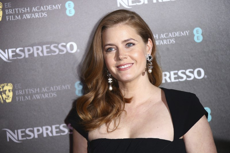Actress Amy Adams poses for photographers upon arrival at the BAFTA Nominees Party in London, Saturday, Feb. (Photo by Joel C Ryan/Invision/AP)