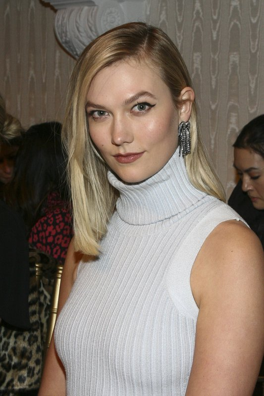 Karlie Kloss attends the NYFW Fall/Winter 2019 Brandon Maxwell fashion show at Hotel Pennsylvania on Saturday, Feb. (Photo by Andy Kropa/Invision/AP)