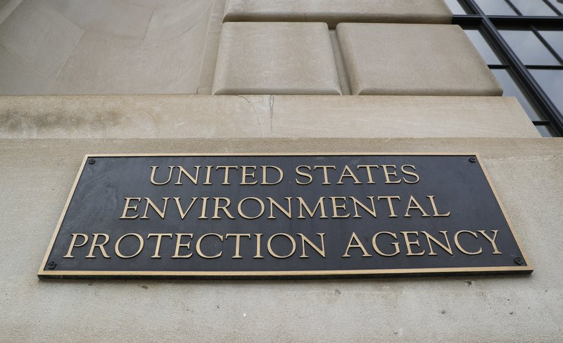 FILE - In this Sept. 21, 2017, file photo, the Environmental Protection Agency (EPA) Building is shown in Washington. (AP Photo/Pablo Martinez Monsivais)