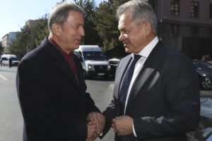 Russian, Turkish defense ministers meet on Syria