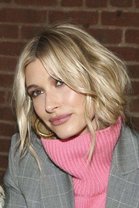 Hailey Baldwin attends the NYFW Fall/Winter 2019 Zadig & Voltaire fashion show at The Tunnel on Monday, Feb. (Photo by Andy Kropa/Invision/AP)