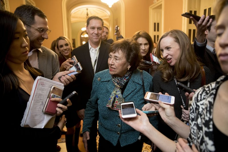 House Appropriations Committee Chair Nita Lowey, D-N.Y., speaks to reporters as she walks out of a closed-door meeting at the Capitol as bipartisan House and Senate bargainers trying to negotiate a border security compromise in hope of avoiding another government shutdown on Capitol Hill, Monday, Feb. (AP Photo/Andrew Harnik)